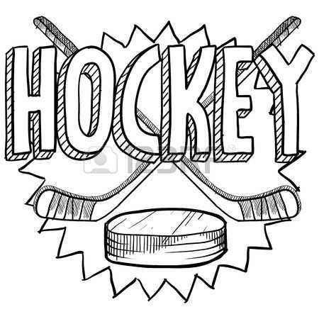Doodle Style Hockey Illustration In Vector Format Includes Text Sports Coloring Pages Hockey Drawing Hockey Girls
