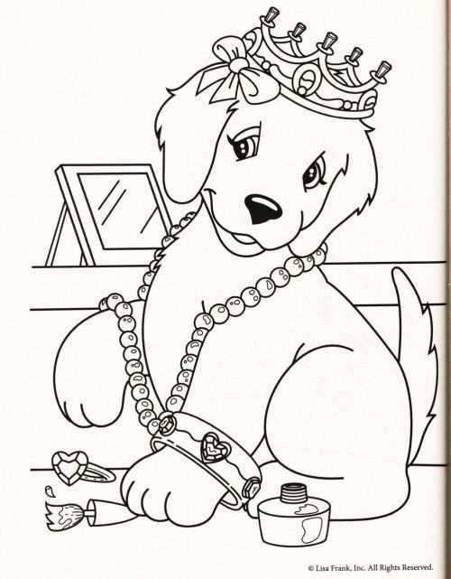 Kleurplaat Hond Kroon Kleurplaten Voor Kinderen Kleurplaten Honden