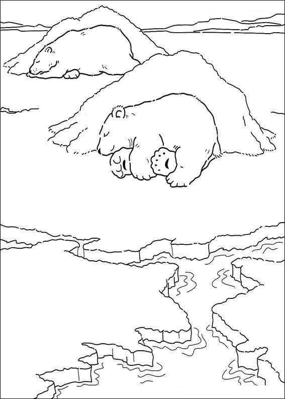 Kleine Ijsbeer Slaapt Kleurplaat Ijsbeer Gratis Kleurplaten Knutselen Noordpool
