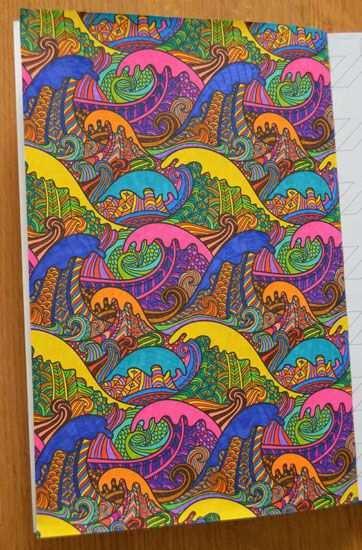 Kleurplaat Uit Het Enige Echte Kleurboek Voor Volwassenen Ingekleurd Door Passion 2 Create Forumlid Karin D Colorful Drawings Colorful Art Art