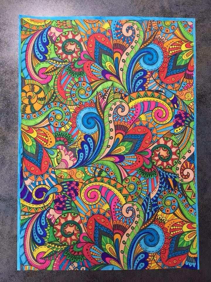 Color Plus Zeeman Volwassenen Kleuren Tangle Art Art Zentangle Patterns