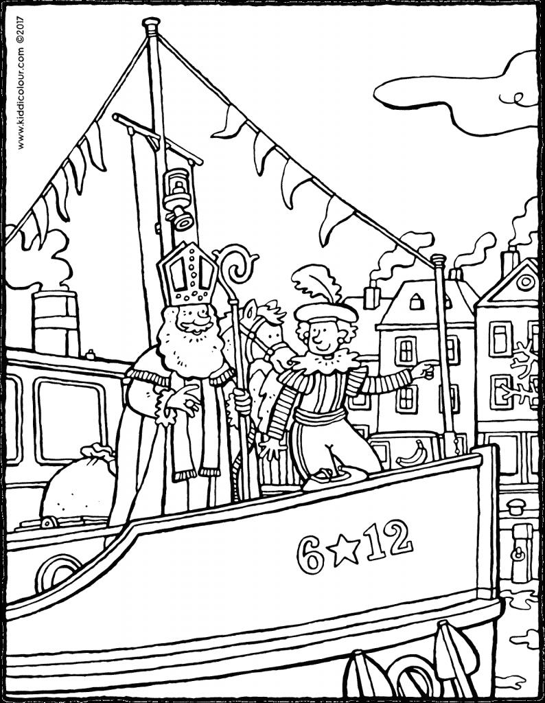 Kleurplaten Voor Kinderen Van 7 Tot 9 Jaar Kiddi De Leukste Kleurprentjes Kleurplaten Voor Kinderen Stoomboten Sinterklaas