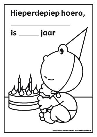 Het Is Feest Kleur Jij Deze Kleurplaat Voor De Jarige Met Lola Namens Frokkie En Lola Ook Gefeliciteerd Kleurplaten Verjaardag Verjaardag Jongens
