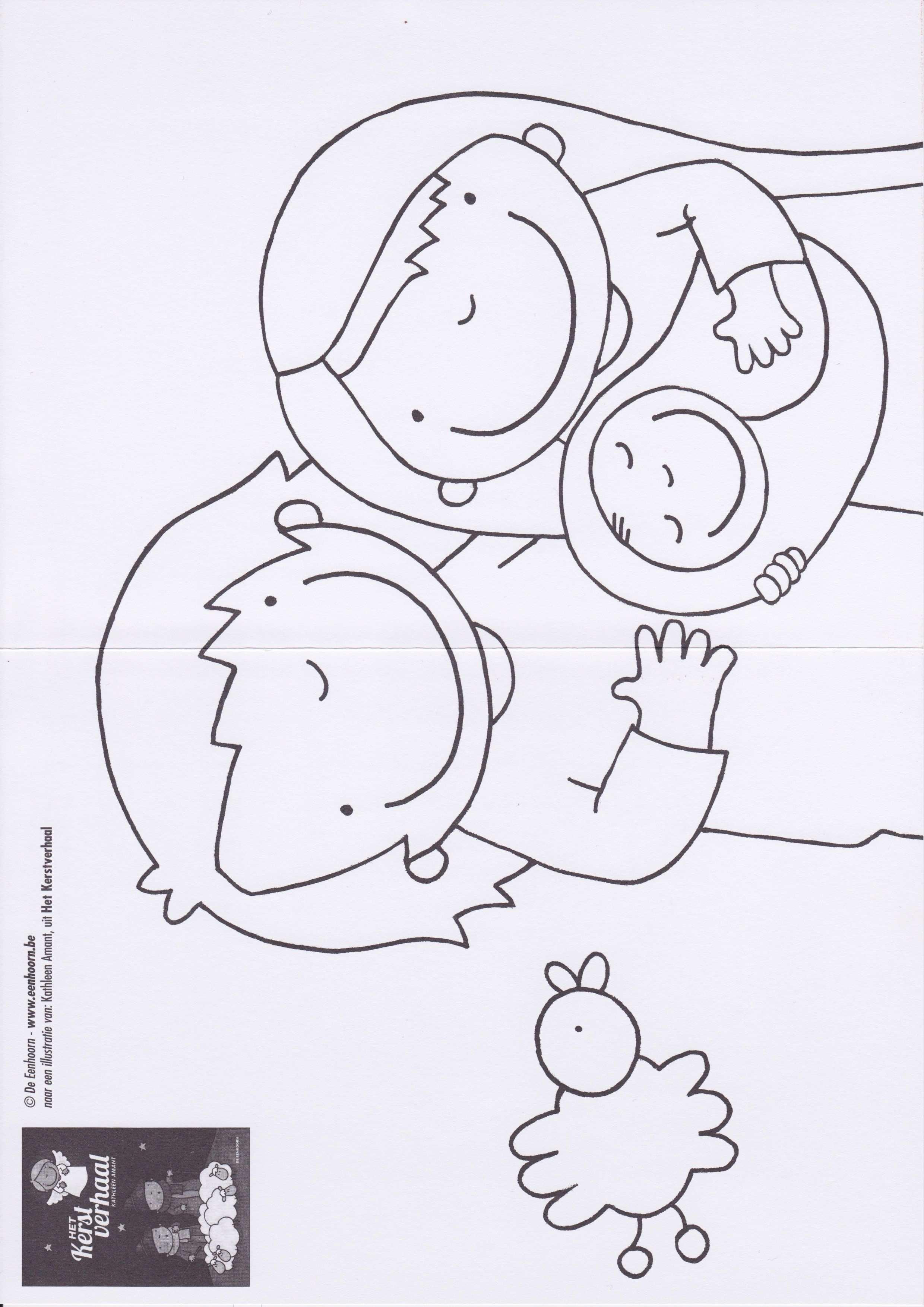 Kleurplaat Jozef En Maria Kerstverhaal Kerstmis Kerst Peuter Kerst