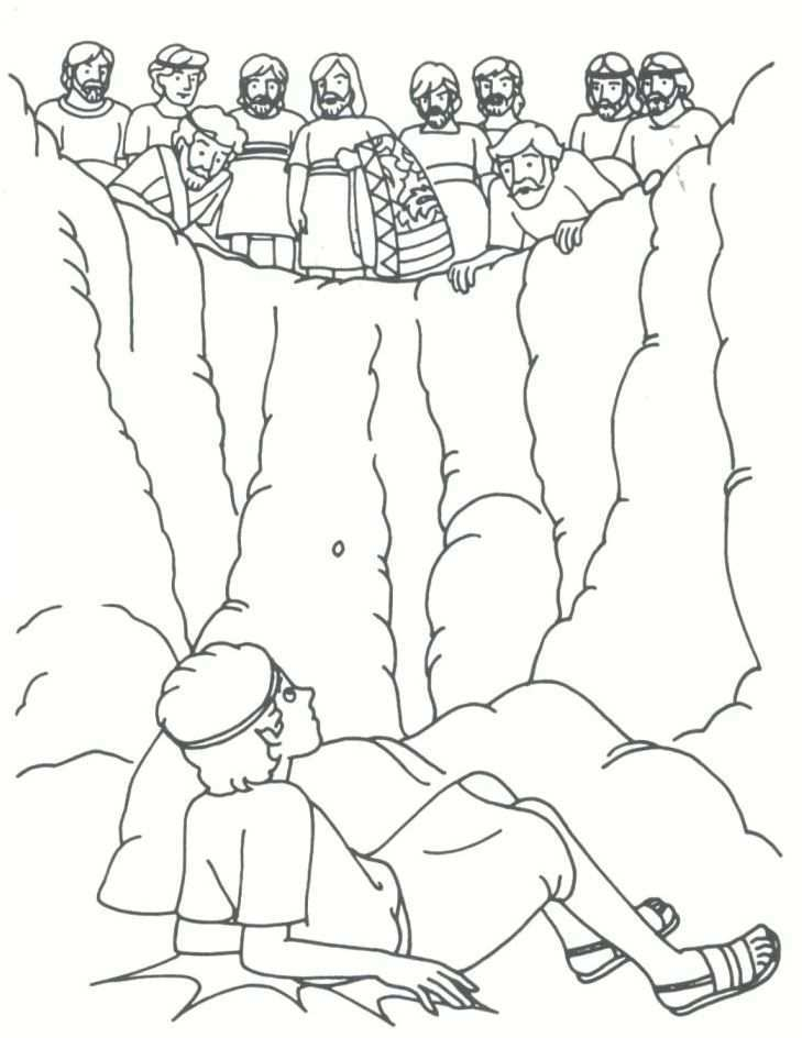 Joseph Sold By His Brothers Coloring Page Google Search Sunday School Coloring Pages Bible Crafts Joseph Bible Crafts