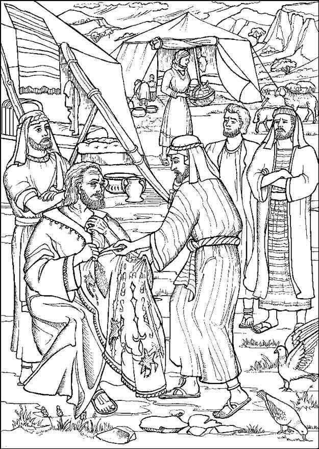 De Mantel Van Jozef Gkv Apeldoorn Zuid Kleurplaten Kleurboek Bijbel Kleurplaten