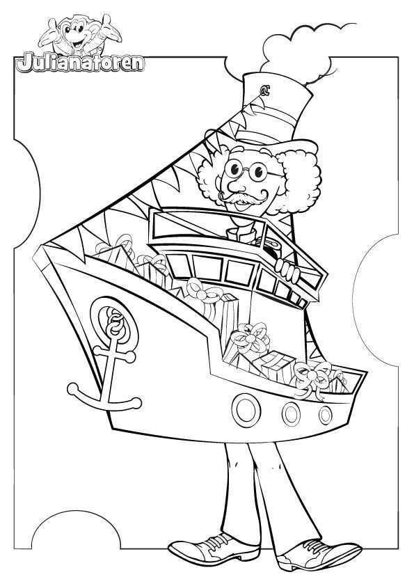 Print Deze Kleurplaat Met Meneer Kaasgaaf Verkleed Als De Pakjesboot Uit En Kleur Hem Op Je Alle Mooiste In Kleurplaten Minion Kleuren