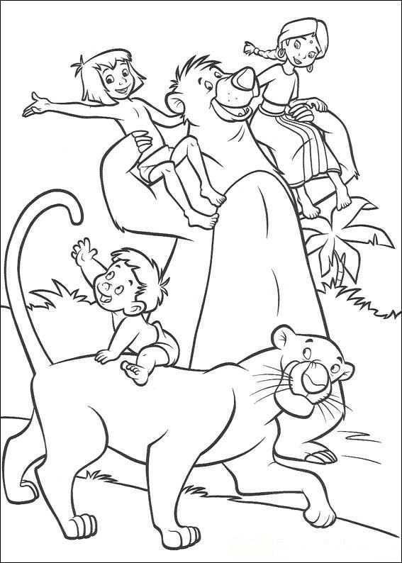 Kids N Fun Kleurplaat Jungle Boek 2 Jungle Boek 2 Kleurplaten Kleurboek Kleurplaten Voor Kinderen