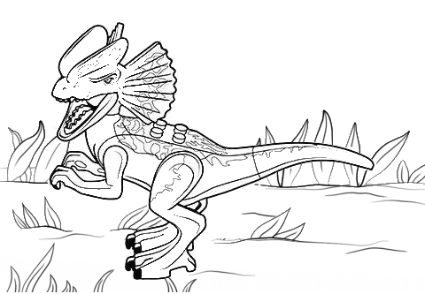 Jurassic World Dilophosaurus Coloring Page Dinosaur Coloring Pages Coloring Pages Lego Coloring Pages