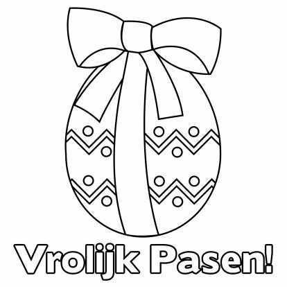 Paaskleurplaat Paasei Kleurplaat Kaarten Kaartje2go Paasei Knutselen Voor Pasen Pasen