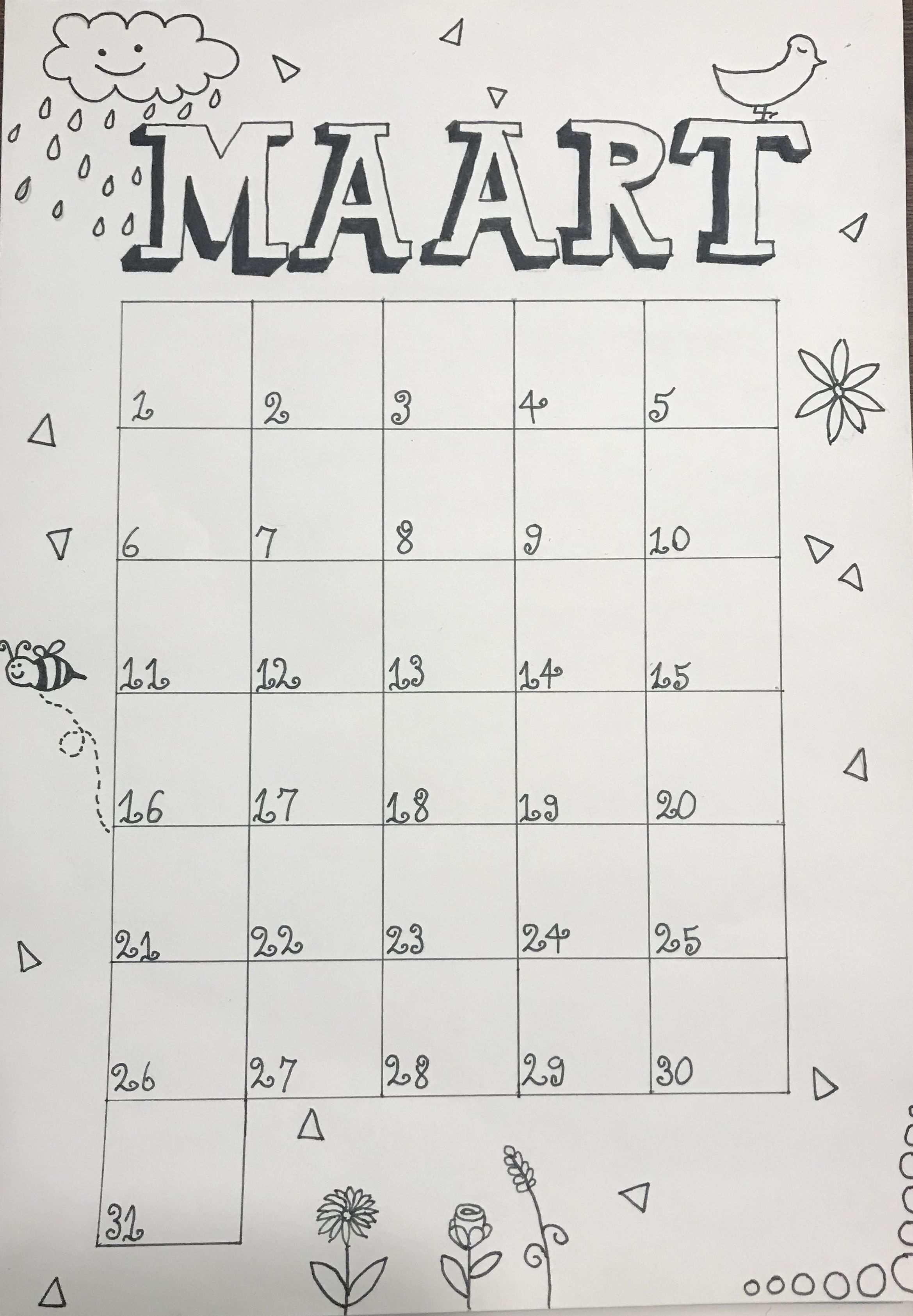 Kalender Maart Handlettering Maart Kalender Calendar Birthdaycalendar Kalender Ideeen Kalender Bullet Journal Ideeen