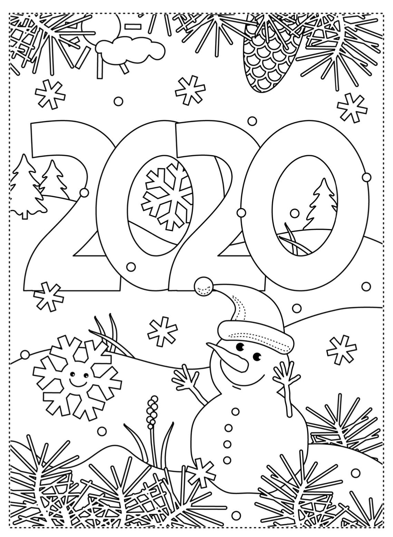Kleurplaat 2020 In 2020 Kleurplaten Kerstmis Kleuren Kerstmis Kleurplaten