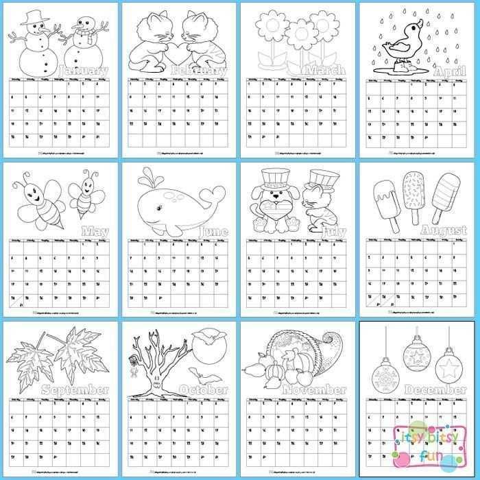 Afbeeldingsresultaat Voor Krokotak Kalender 2018 Kalender Fur Kinder Kinder Printables Kinderfarben
