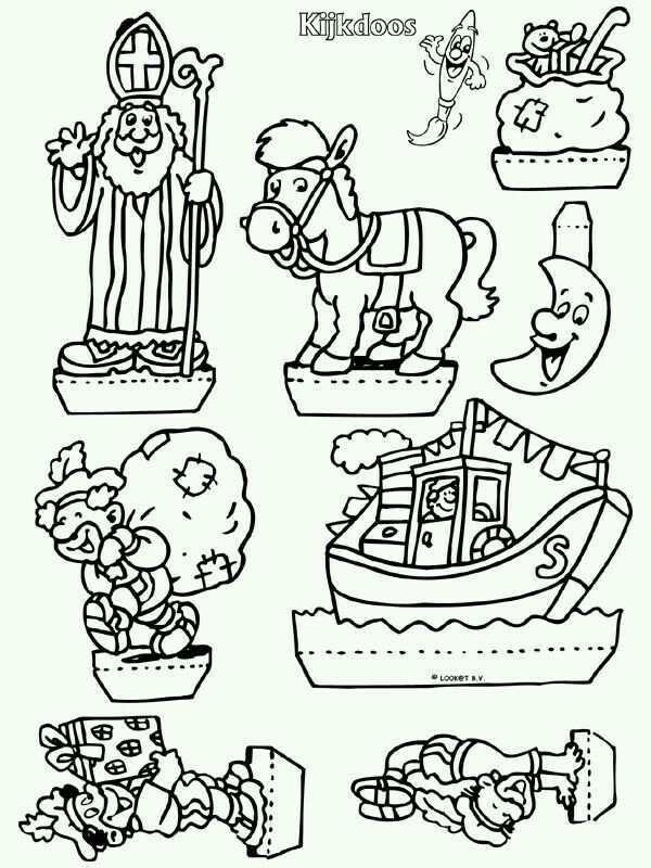 Sint Kijkdoos Sinterklaas Knutselen Sinterklaas Knutsel Idee Sinterklaas