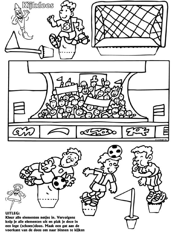 Voetbal Kijkdoos Maken Voetbal Knutselen Knutselen Sport Kinderfeest Activiteiten
