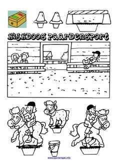 Kijkdoos Paardensport Voor Mijn Paarden Gekke Dochter Paard Knutselen Paardrijden Knutselen Sport