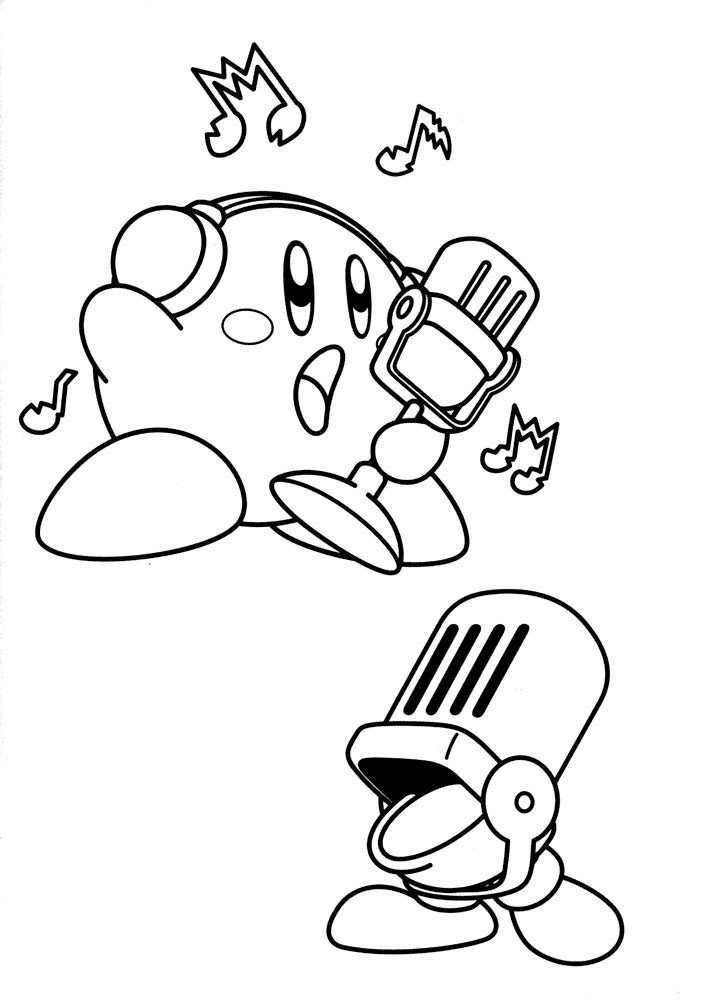Free Printable Kirby Coloring Pages For Kids Coloring Pages For Kids Coloring Pages Cartoon Coloring Pages