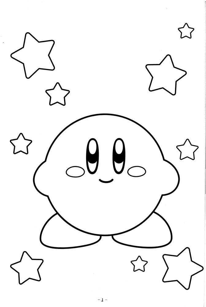 Free Printable Kirby Coloring Pages For Kids Star Coloring Pages Cartoon Coloring Pages Cute Coloring Pages