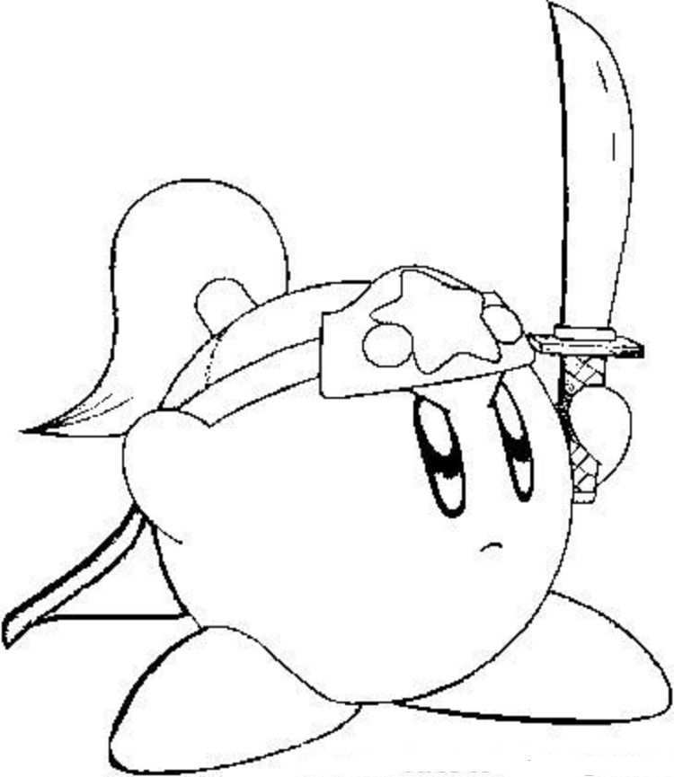 Fighting Kirby Coloring Pages