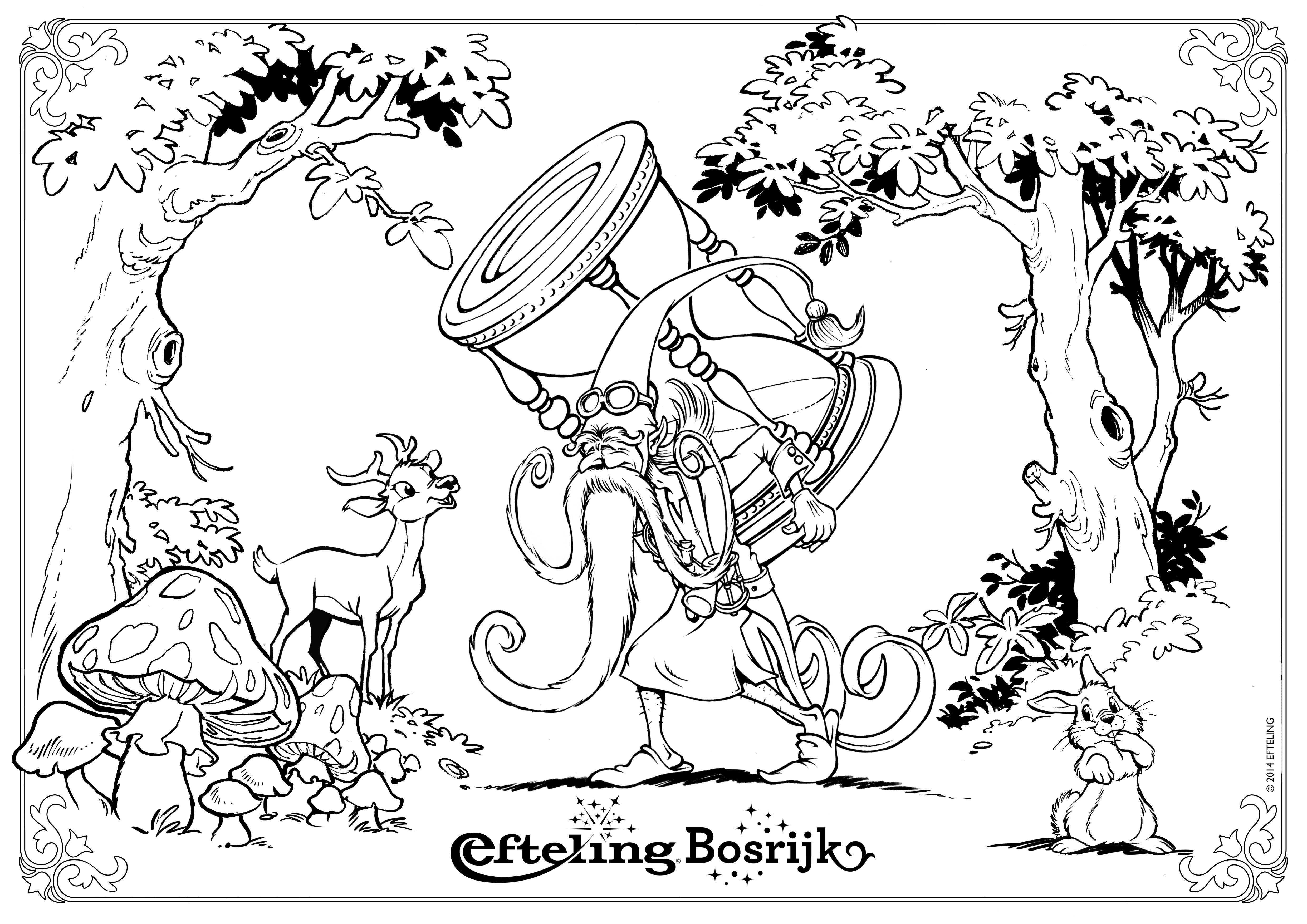 Efteling Kleurplaat Klaas Vaak Kleurplaten Kleurboek Sprookjesboom
