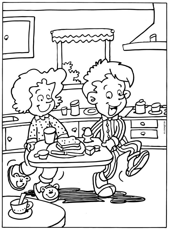 Kleurplaat Moederdag Vaderdag Ontbijt Kleurplaten Nl Vaderdag Moederdag Vaderdag Diy