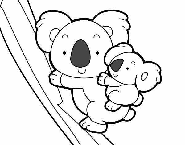 Disegni Da Colorare Koala In 2020 Koala Kleurplaten