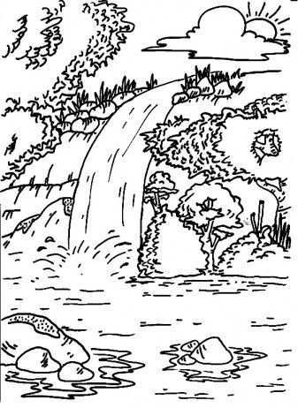 Kleurplaten 20natuur 20waterval 20waterfall 20coloring 20pages 20for 20free Wood Patterns Coloring Pages Art