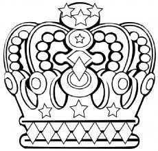 Kleurplaat Kroon Koninginnedag Kroonsjabloon Kroon Tekening Kleurboek
