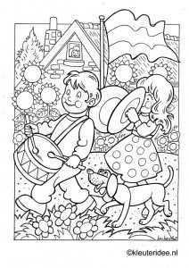 Kleurplaat Koningsdag Voor Kleuters 3 Kleuteridee Nl The Kings Day Coloring Coloring Pages Colouring Pages Color