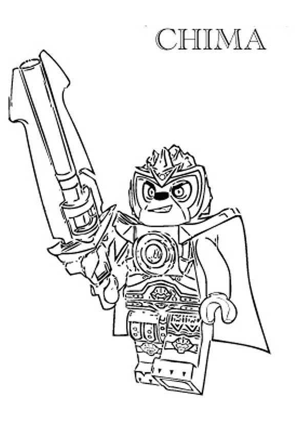 Kids N Fun Coloring Page Lego Chima Lego Chima Lennox Lego Coloring Pages Lego Coloring Lego Chima Birthday Party