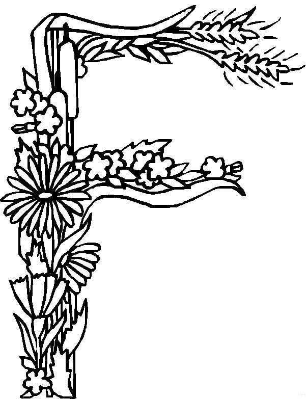 Kids N Fun 26 Coloring Pages Of Alphabet Flowers Coloring Pages Flower Coloring Pages Flower Alphabet