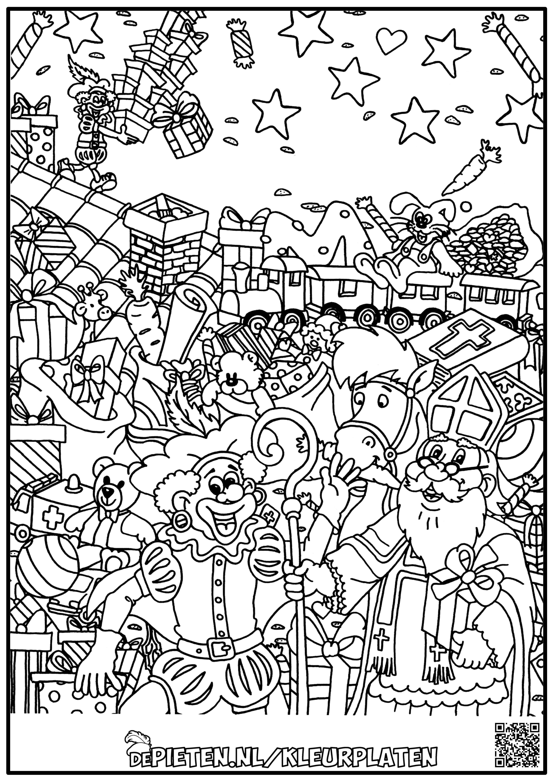 Kleurplaten Sinterklaas Moeilijk Volwassenen En Grote Kinderen Goede Kwaliteit Afbeelding In Link Kleurplaten Sinterklaas Kleurplaten Voor Volwassenen