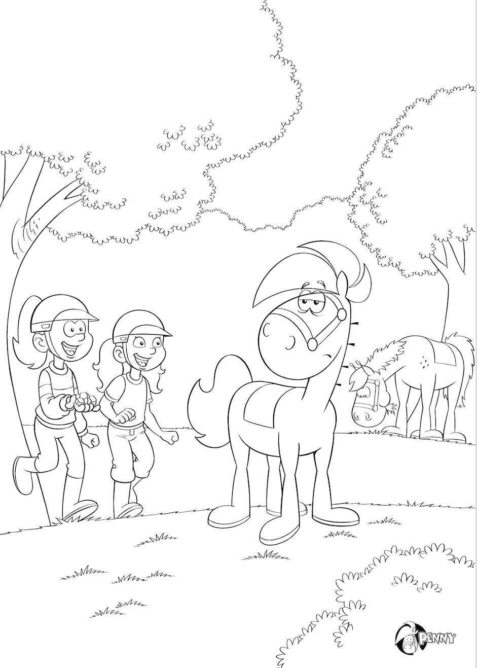 Rakker Kleurplaat Kleurplaten Leuke Weetjes Paarden