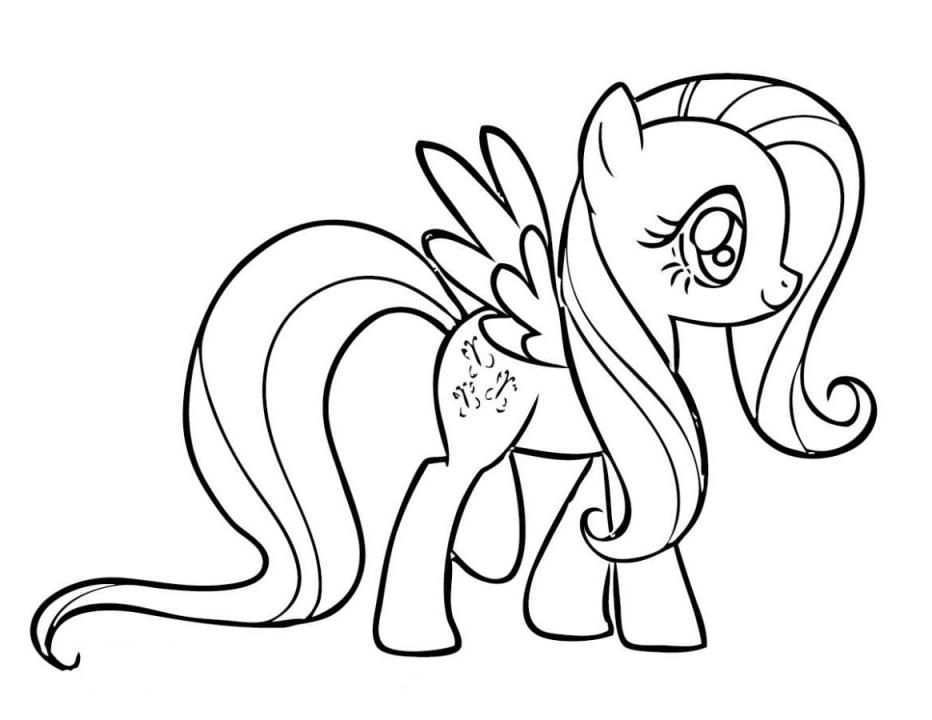 Print My Little Pony Coloring Pages Fluttershy Or Download My Little Pony Coloring Pages Fluttershy Free Online Coloring Pages For Kids Kleurplaten