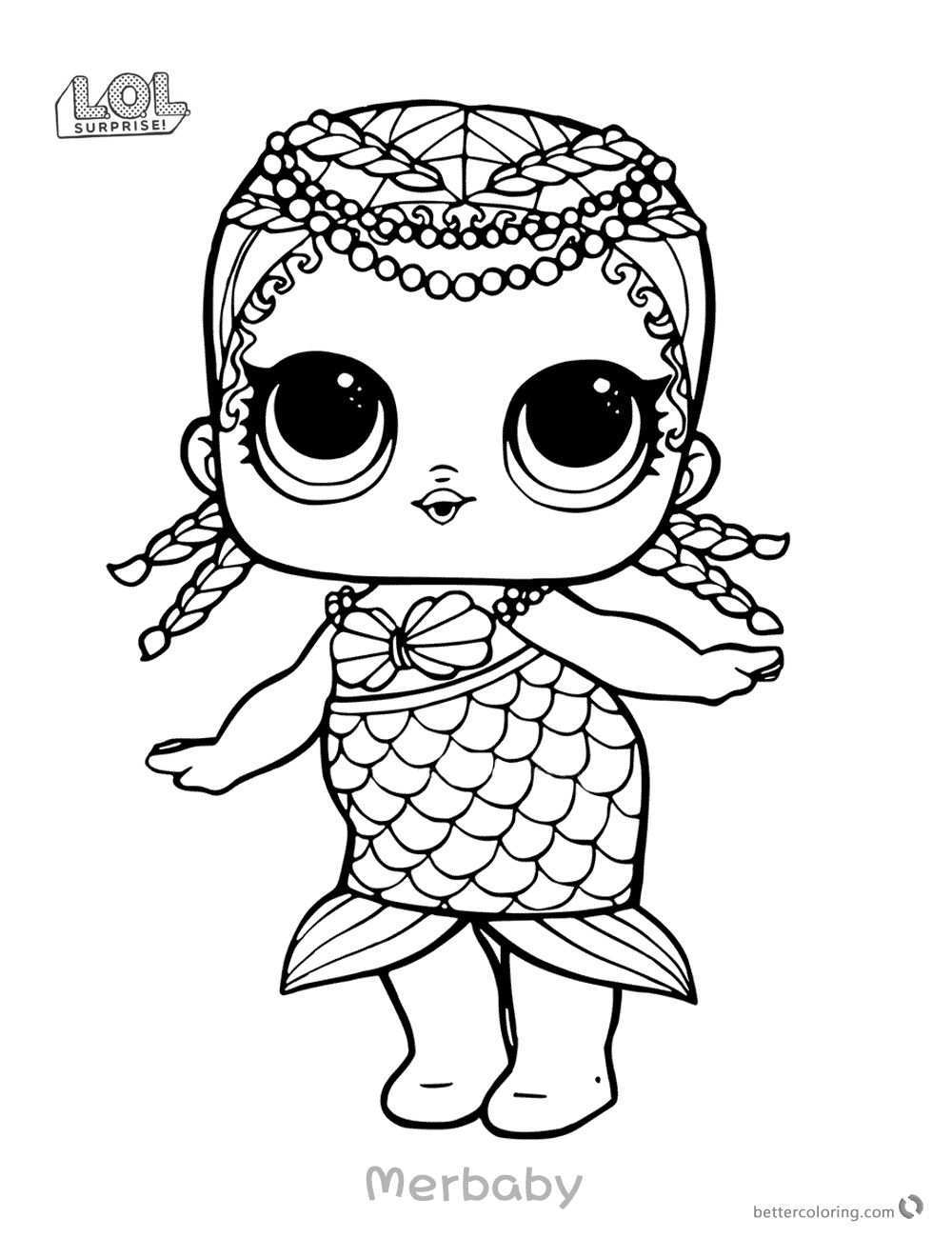 Lol Coloring Mermaid With Images Mermaid Coloring Pages