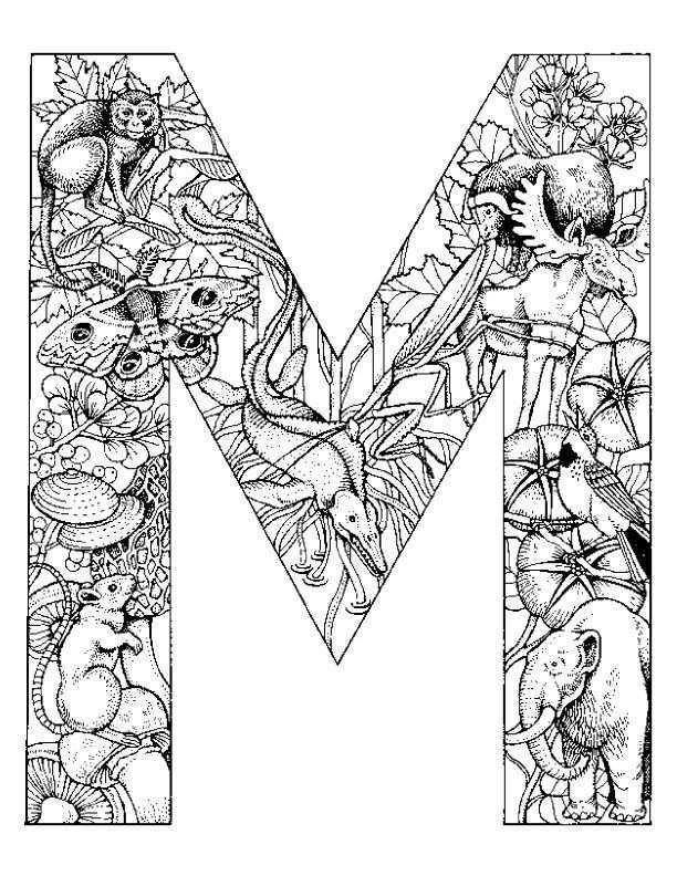 M Is For Michele Alfabet Kleurplaten Gratis Kleurplaten Dieren Kleurplaten