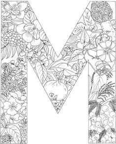 Letter M Coloring Page Free Printable Coloring Pages Abstracte Kleurplaten Alfabet Kleurplaten Mandala Kleurplaten