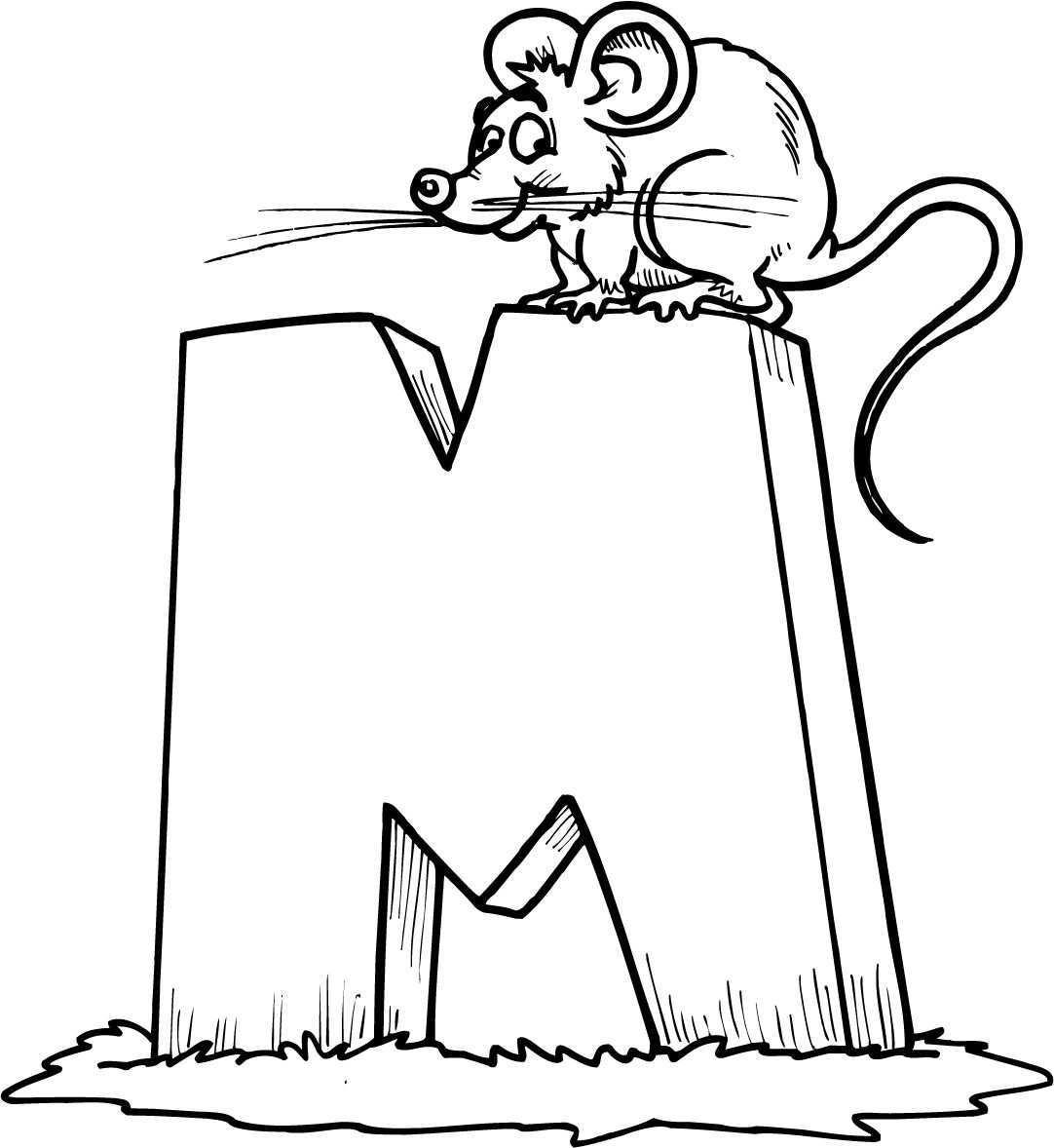 Coloring Sheet Of A Letter M Alfabet Kleurplaten Thema