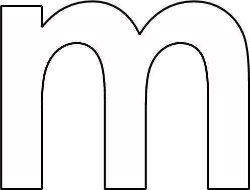 Kleurplaat Letter M Kleuterschool Alfabet Alfabet Letters Taalactiviteiten