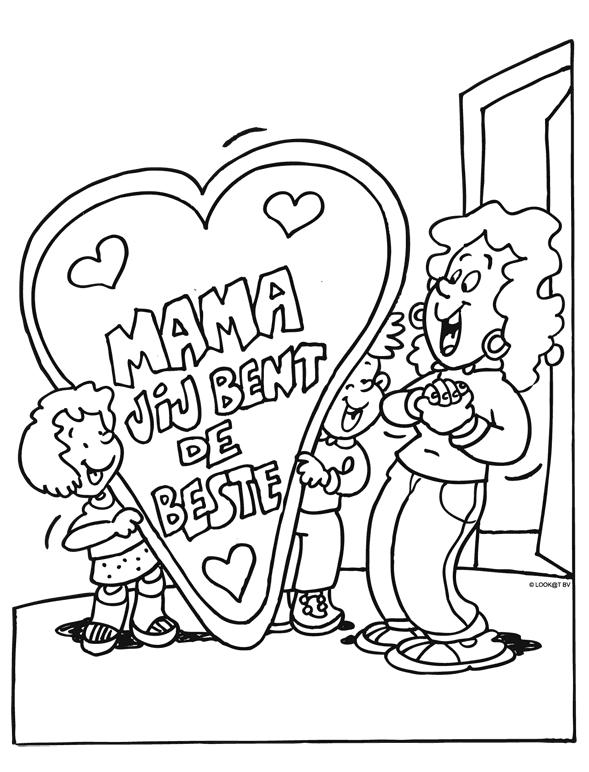 Kleurplaat Moederdag Mama Is De Beste Kleurplaten Nl Moederdag Vaderdag Verjaardag Moeder