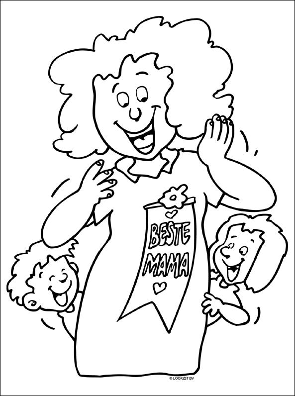 Kleurplaat Beste Mama Moederdag Moederdag Kleurplaten Vaderdag