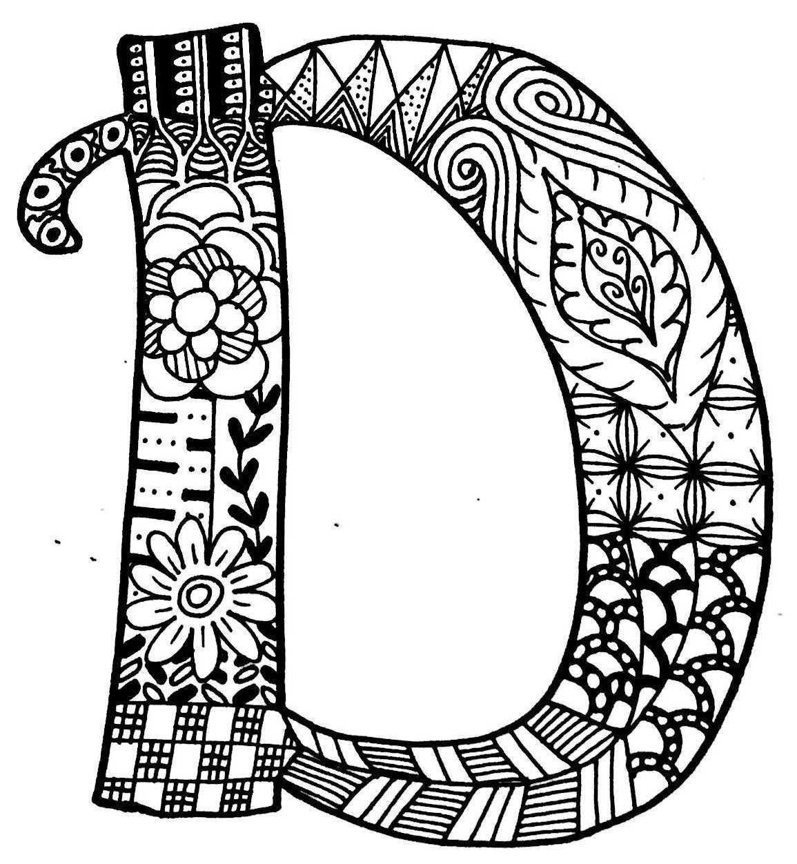 Letter D Mandala Art Lesson Mandala Drawing Doodle Lettering