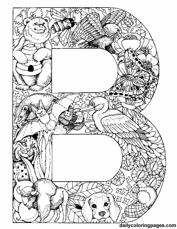 Animal Alphabet Letters To Print Gratis Kleurplaten Alfabet Kleurplaten