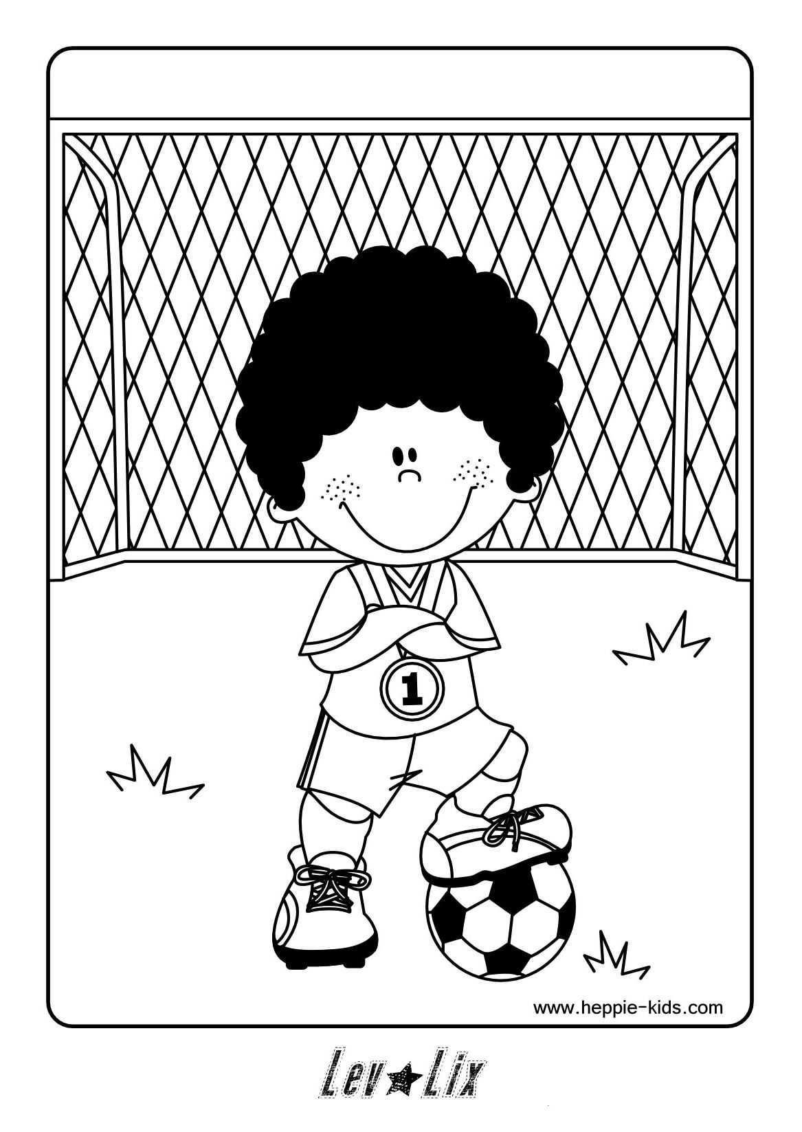 Kleurplaat Voetbal Voetbal Kleurplaten Thema