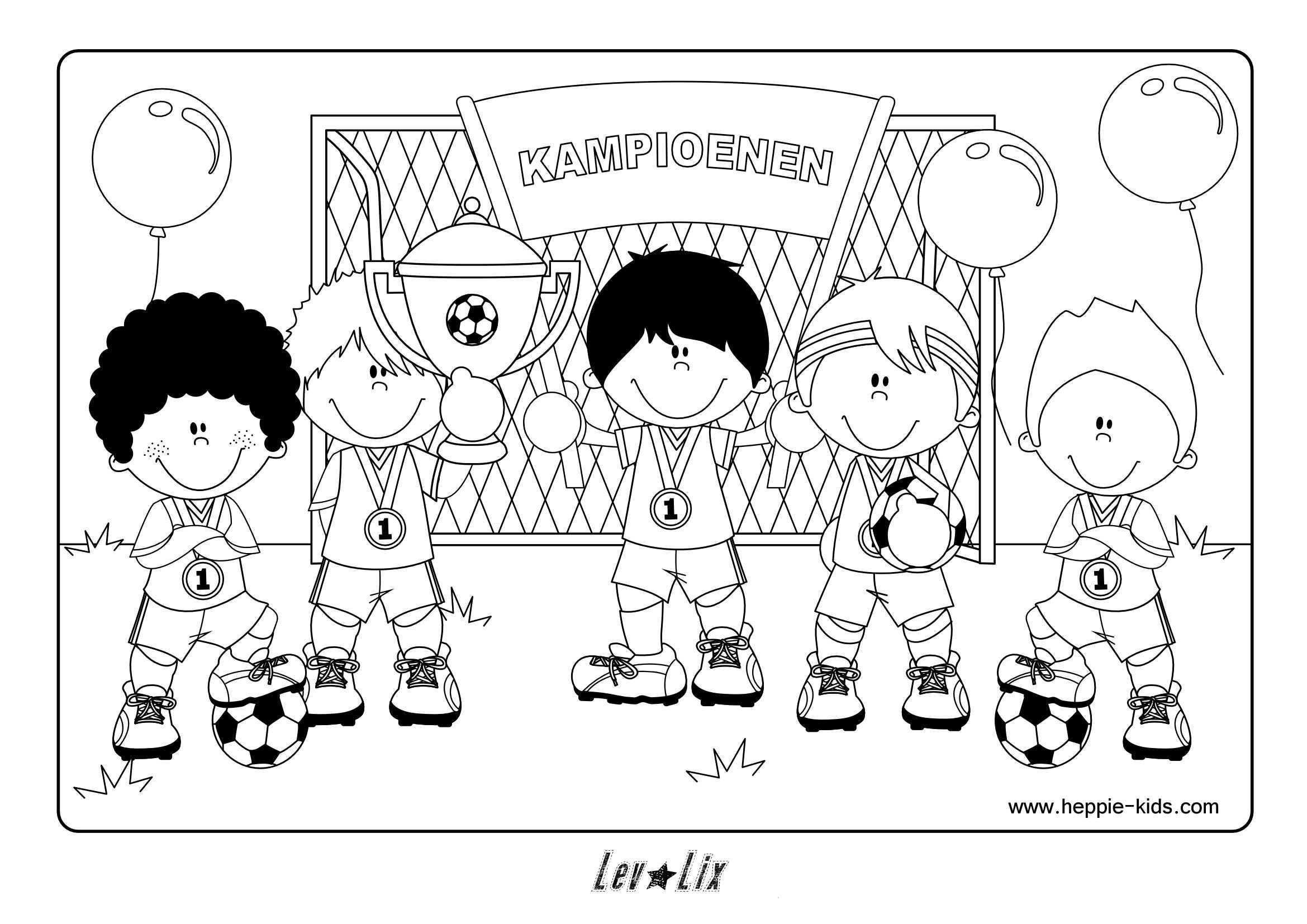 Kleurplaat Voetbal Www Heppie Kids Com Voetbal Kleurplaten Sport