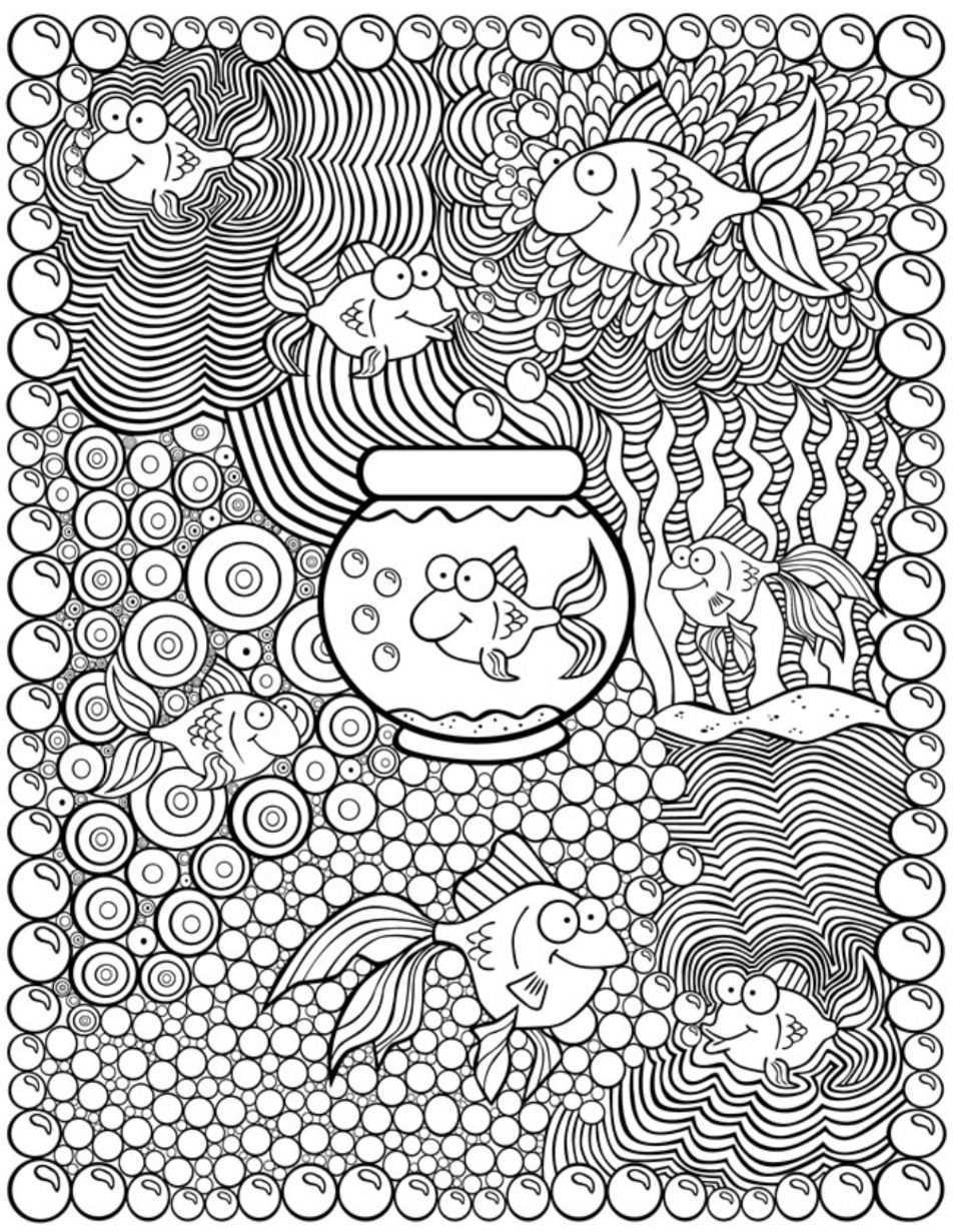 Kleurplaat Vis Dover Publications Kleurplaten Mandala Kleurplaten Zomer Kleurplaten