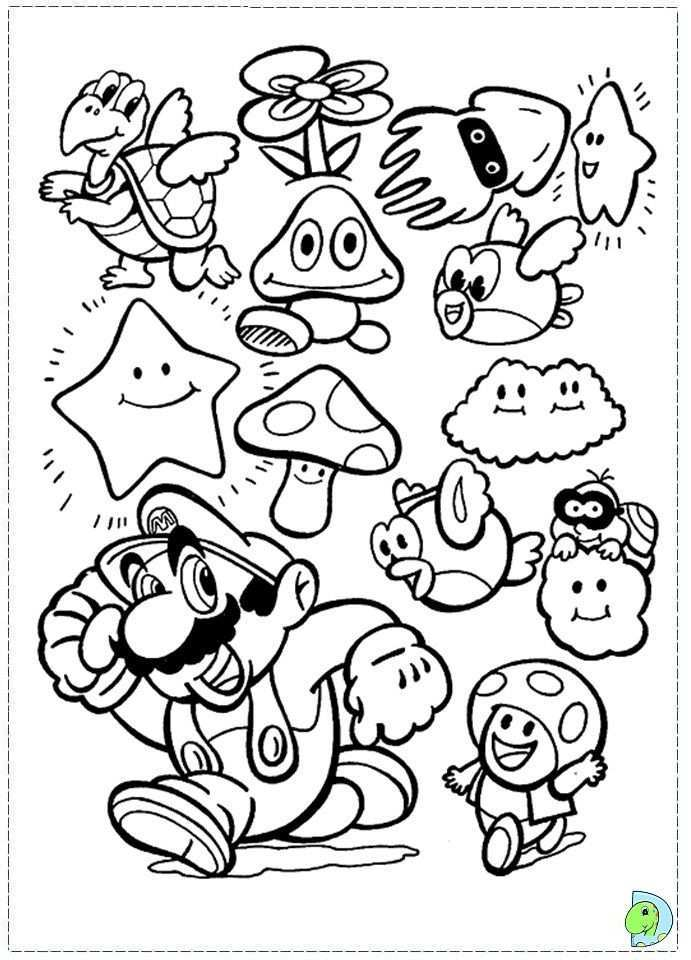 Mario Bros Coloring Pages To Print Az Coloring Pages Mario Coloring Pages Super Mario Coloring Pages Coloring Books