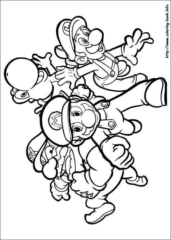 Super Mario Bros Coloring Picture Mario Coloring Pages Super Mario Coloring Pages Cartoon Coloring Pages