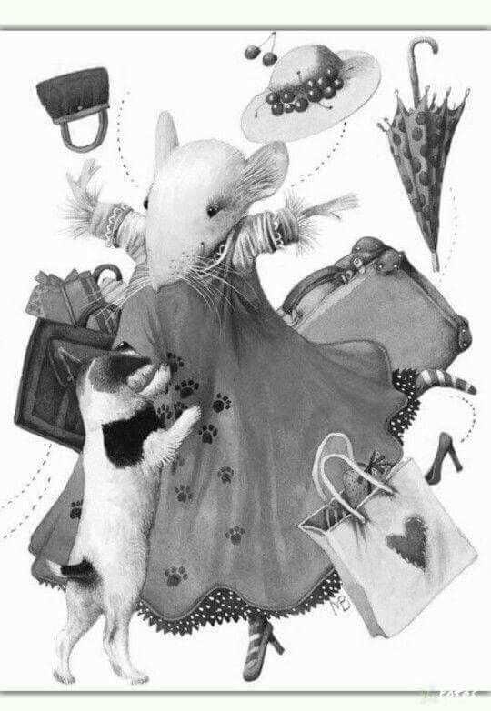 Pin By Patricia Hack On Kleurplaten Marjolein Bastin Mouse Illustration Art
