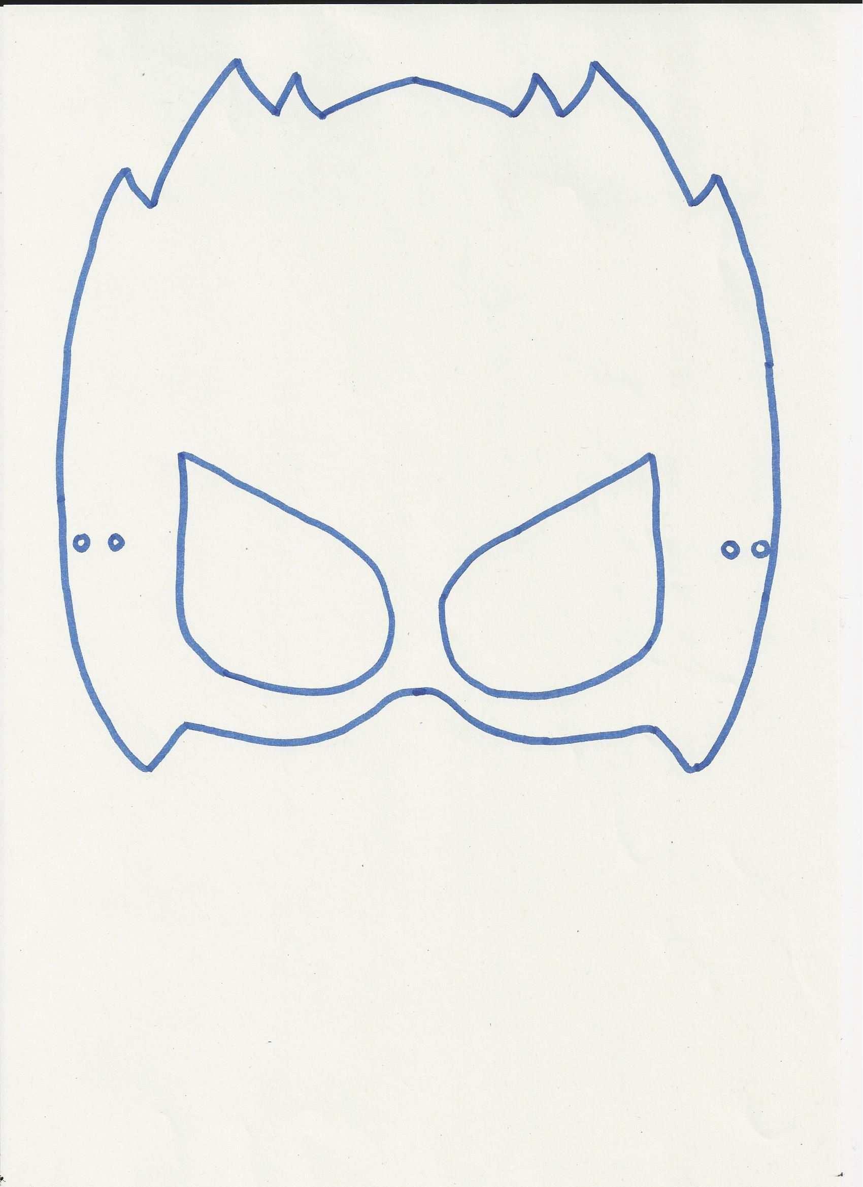Masker Van Mega Toby Om Te Kleuren Schilderen Kleuren Masker Mega Themafeestjes Superhelden Superheld Feestje